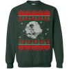 CustomCat Apparel G180 Gildan Crewneck Pullover Sweatshirt  8 oz. / Forest Green / Small Death Star - Ugly Sweater