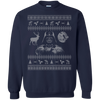 CustomCat Apparel G180 Gildan Crewneck Pullover Sweatshirt  8 oz. / Navy / Small Darth - Ugly Sweater