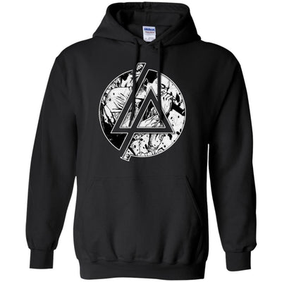 CustomCat Apparel G185 Gildan Pullover Hoodie 8 oz. / Black / Small Chester Linkin Park Logo Tee