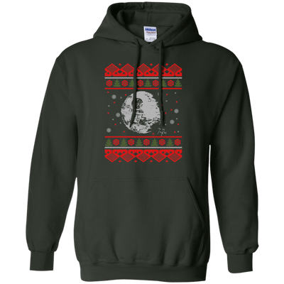 CustomCat Apparel G185 Gildan Pullover Hoodie 8 oz. / Forest Green / Small Death Star - Ugly Sweater
