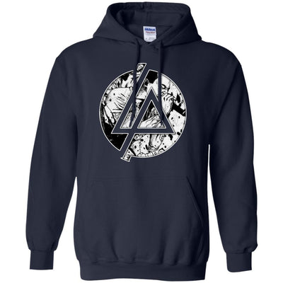CustomCat Apparel G185 Gildan Pullover Hoodie 8 oz. / Navy / Small Chester Linkin Park Logo Tee
