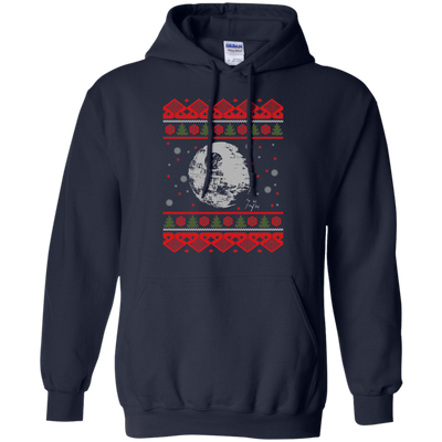 CustomCat Apparel G185 Gildan Pullover Hoodie 8 oz. / Navy / Small Death Star - Ugly Sweater