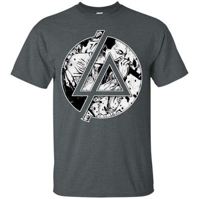 CustomCat Apparel G200 Gildan Ultra Cotton T-Shirt / Dark Heather / Small Chester Linkin Park Logo Tee