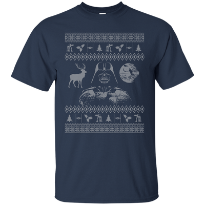 CustomCat Apparel G200 Gildan Ultra Cotton T-Shirt / Navy / Small Darth - Ugly Sweater