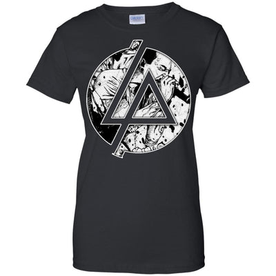 CustomCat Apparel G200L Gildan Ladies' 100% Cotton T-Shirt / Black / X-Small Chester Linkin Park Logo Ladies Tee