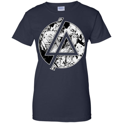 CustomCat Apparel G200L Gildan Ladies' 100% Cotton T-Shirt / Navy / X-Small Chester Linkin Park Logo Ladies Tee