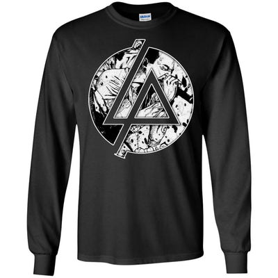 CustomCat Apparel G240 Gildan LS Ultra Cotton T-Shirt / Black / Small Chester Linkin Park Logo Tee