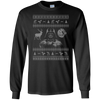 CustomCat Apparel G240 Gildan LS Ultra Cotton T-Shirt / Black / Small Darth - Ugly Sweater