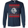 CustomCat Apparel G240 Gildan LS Ultra Cotton T-Shirt / Navy / Small Death Star - Ugly Sweater
