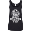 CustomCat Apparel Ladies' 100% Ringspun Cotton Tank Top / Black / Small Biggest Fear Camping Gear Ladies Tee