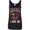 CustomCat Apparel Ladies' 100% Ringspun Cotton Tank Top / Black / Small Call Me Zelda I Dare You Ladies Tee