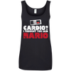 CustomCat Apparel Ladies' 100% Ringspun Cotton Tank Top / Black / Small Cardio I Thought You Said Mario Ladies Tee