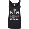 CustomCat Apparel Ladies' 100% Ringspun Cotton Tank Top / Black / Small DBZ - Installing Muscles Ladies Tee