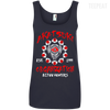 CustomCat Apparel Ladies' 100% Ringspun Cotton Tank Top / Navy / Small Akatsuki Organization Ladies Tee