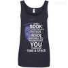 CustomCat Apparel Ladies' 100% Ringspun Cotton Tank Top / Navy / Small Book Tardis Ladies Tee
