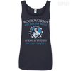 CustomCat Apparel Ladies' 100% Ringspun Cotton Tank Top / Navy / Small Bookworms Will Rule The World Ladies Tee