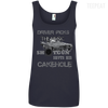 CustomCat Apparel Ladies' 100% Ringspun Cotton Tank Top / Navy / Small Cakehole Ladies Tee