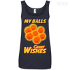 CustomCat Apparel Ladies' 100% Ringspun Cotton Tank Top / Navy / Small Dragon Ball Z Grant Wishes Ladies Tee