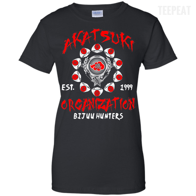 CustomCat Apparel Ladies Custom 100% Cotton T-Shirt / Black / X-Small Akatsuki Organization Ladies Tee