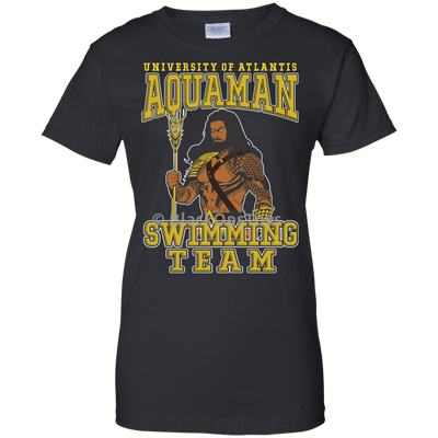 CustomCat Apparel Ladies Custom 100% Cotton T-Shirt / Black / X-Small Aquaman Swimming Team Ladies Tee