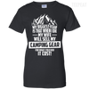 CustomCat Apparel Ladies Custom 100% Cotton T-Shirt / Black / X-Small Biggest Fear Camping Gear Ladies Tee