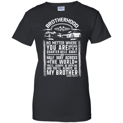 CustomCat Apparel Ladies Custom 100% Cotton T-Shirt / Black / X-Small Brotherhood Ladies Tee