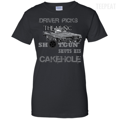 CustomCat Apparel Ladies Custom 100% Cotton T-Shirt / Black / X-Small Cakehole Ladies Tee