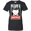 CustomCat Apparel Ladies Custom 100% Cotton T-Shirt / Black / X-Small Death Note Justice Ladies Tee