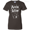 CustomCat Apparel Ladies Custom 100% Cotton T-Shirt / Dark Chocolate / X-Small Accio Wine Tee