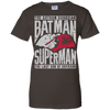 CustomCat Apparel Ladies Custom 100% Cotton T-Shirt / Dark Chocolate / X-Small Batman and Superman Ladies Tee