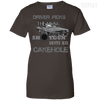 CustomCat Apparel Ladies Custom 100% Cotton T-Shirt / Dark Chocolate / X-Small Cakehole Ladies Tee