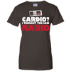 CustomCat Apparel Ladies Custom 100% Cotton T-Shirt / Dark Chocolate / X-Small Cardio I Thought You Said Mario Ladies Tee