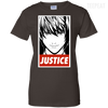 CustomCat Apparel Ladies Custom 100% Cotton T-Shirt / Dark Chocolate / X-Small Death Note Justice Ladies Tee