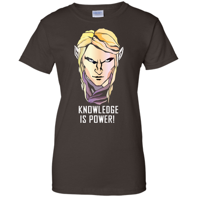 CustomCat Apparel Ladies Custom 100% Cotton T-Shirt / Dark Chocolate / X-Small Dota 2 Invoker Ladies Tee