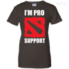 CustomCat Apparel Ladies Custom 100% Cotton T-Shirt / Dark Chocolate / X-Small Dota 2 Proud Support Ladies Tee