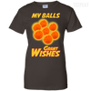 CustomCat Apparel Ladies Custom 100% Cotton T-Shirt / Dark Chocolate / X-Small Dragon Ball Z Grant Wishes Ladies Tee