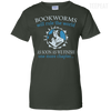 CustomCat Apparel Ladies Custom 100% Cotton T-Shirt / Forest Green / X-Small Bookworms Will Rule The World Ladies Tee