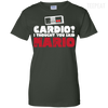 CustomCat Apparel Ladies Custom 100% Cotton T-Shirt / Forest Green / X-Small Cardio I Thought You Said Mario Ladies Tee