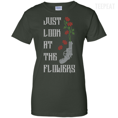 CustomCat Apparel Ladies Custom 100% Cotton T-Shirt / Forest Green / X-Small Carol Flowers Ladies Tee