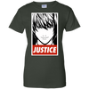 CustomCat Apparel Ladies Custom 100% Cotton T-Shirt / Forest Green / X-Small Death Note Justice Ladies Tee