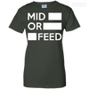 CustomCat Apparel Ladies Custom 100% Cotton T-Shirt / Forest Green / X-Small Dota 2 Mid or Feed Ladies Tee