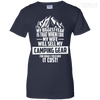 CustomCat Apparel Ladies Custom 100% Cotton T-Shirt / Navy / X-Small Biggest Fear Camping Gear Ladies Tee
