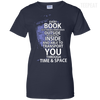 CustomCat Apparel Ladies Custom 100% Cotton T-Shirt / Navy / X-Small Book Tardis Ladies Tee
