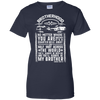 CustomCat Apparel Ladies Custom 100% Cotton T-Shirt / Navy / X-Small Brotherhood Ladies Tee