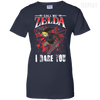CustomCat Apparel Ladies Custom 100% Cotton T-Shirt / Navy / X-Small Call Me Zelda I Dare You Ladies Tee