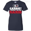 CustomCat Apparel Ladies Custom 100% Cotton T-Shirt / Navy / X-Small Cardio I Thought You Said Mario Ladies Tee