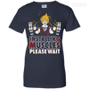 CustomCat Apparel Ladies Custom 100% Cotton T-Shirt / Navy / X-Small DBZ - Installing Muscles Ladies Tee