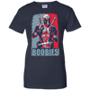 CustomCat Apparel Ladies Custom 100% Cotton T-Shirt / Navy / X-Small Deadpool Boobies Ladies Tee