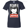 CustomCat Apparel Ladies Custom 100% Cotton T-Shirt / Navy / X-Small Death Note Justice Ladies Tee