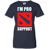 CustomCat Apparel Ladies Custom 100% Cotton T-Shirt / Navy / X-Small Dota 2 Proud Support Ladies Tee